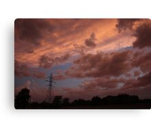 Kansas Stormy Night out back Canvas Print
