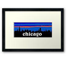 Chicago, skyline silhouette Framed Print