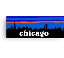 Chicago, skyline silhouette Canvas Print