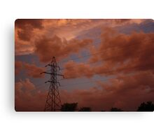 Stormy Night out back in Kansas Canvas Print