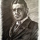 Sir Ernest Shackleton  - no. 2 (after photograph by Felix Nadar) by andrea v