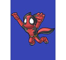 Deadpool Kitty (Sans Text) Photographic Print