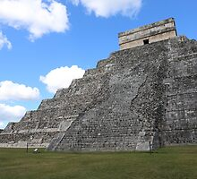 Chichen Itza Temple of Kukulcan south-west View by stine1