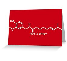 Hot and Spicy: Capsaicin Molecule Greeting Card