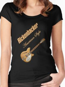 Rickenbacker Natural 12s American Style  Women's Fitted Scoop T-Shirt
