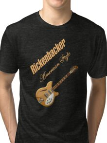 Rickenbacker Natural 12s American Style  Tri-blend T-Shirt