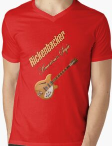 Rickenbacker Natural 12s American Style  Mens V-Neck T-Shirt
