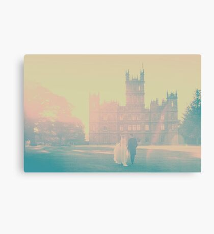 Bride & Groom walking  Canvas Print