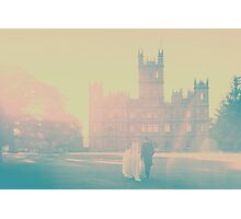Bride & Groom walking  Photographic Print