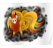 Nine-Tailed Kitsune (White Recommended.) Poster