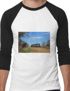Kansas Country Bridge with Blue sky Men's Baseball ¾ T-Shirt