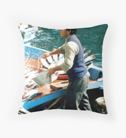 Catch of the Day. Throw Pillow