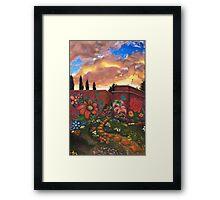 """Jardìn""  Framed Print"