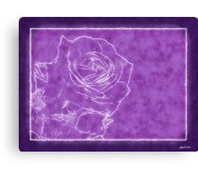 Pink Roses in Anzures 1 Outlined Purple Canvas Print