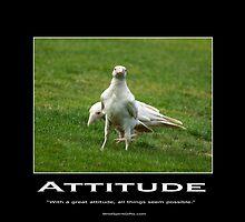 White Ravens Motivational Poster by Val  Brackenridge