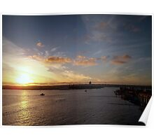 Sunset At San Diego Harbor Poster