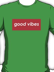 Good vibes - Red T-Shirt
