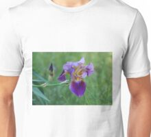 Purple Iris Bright and Colorful Unisex T-Shirt