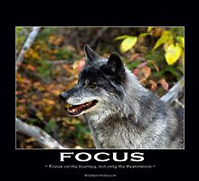 Grey Wolf Motivational Poster by NaturePrints