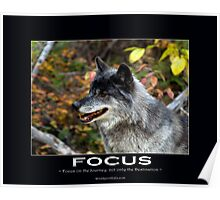 Grey Wolf Motivational Poster Poster