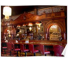 Historic Cherrywood Bar In The Buffalo Bill's Irma Hotel Poster