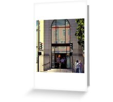 Windows And Doors In A Window Greeting Card