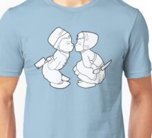 Drifter Threads: Kissing Dutch Kids Unisex T-Shirt