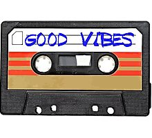 Good Vibes Cassette Tape - Awesome iPhone Case Photographic Print