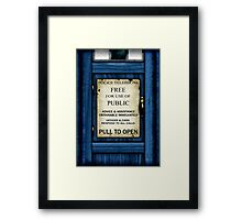 Free For Use Of Public - Tardis Door Sign - iPad Case Framed Print