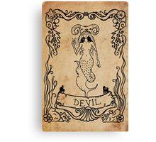 Mermaid Tarot: The Devil Canvas Print