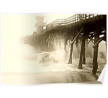 """ Foggy Pier "" Poster"