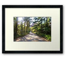 Just Me and a Country Road Framed Print
