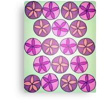 Pink and Purple Flower Pattern Canvas Print