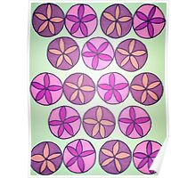 Pink and Purple Flower Pattern Poster