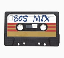 80s MIX - Music Cassete Tape One Piece - Short Sleeve