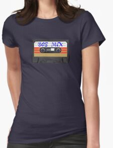 80s MIX - Music Cassete Tape Womens Fitted T-Shirt