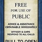 Free For Use Of Public - Tardis Door Sign, (please see notes) by Ra12