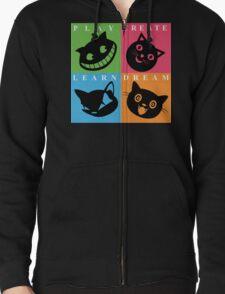 Cat Mode Zipped Hoodie