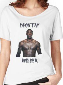 Deontay Wilder Heavyweight boxer Women's Relaxed Fit T-Shirt