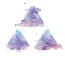 Watercolour Triforce- Purple by warriordork