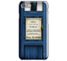 Free For Use Of Public - Tardis Door Sign - (please see notes) iPhone Case/Skin