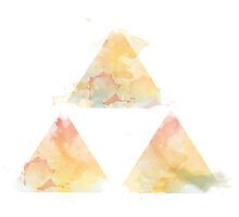 Watercolour Triforce- Yellow by warriordork
