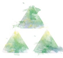 Watercolour Triforce- Green by warriordork