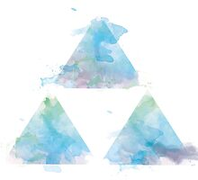 Watercolour Triforce- Blue by warriordork