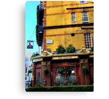 London Corner Pub Canvas Print