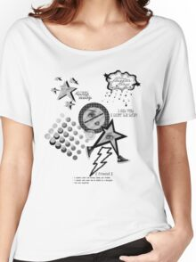 Friends Laughter & Tears-Blk-white Women's Relaxed Fit T-Shirt