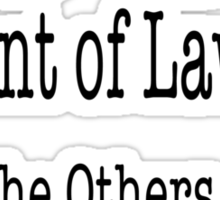 99 Percent of Lawyers... Sticker
