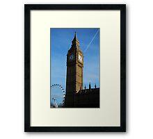Big Ben and London Eye perspective Framed Print