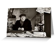 The old newspaper stand Greeting Card