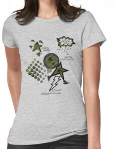Friends Laughter & Tears-Olive Womens Fitted T-Shirt